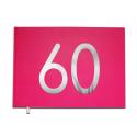 Livre d'or 60 ans - Anniversaire, Mariage, Retraite -  Lettres chromées -100 pages - Qualité premium - Uttscheid