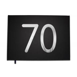 Livre d'or 70 ans - Anniversaire, Mariage, Retraite -  Lettres chromées -100 pages - Qualité premium - Uttscheid