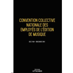 Convention collective nationale des employés de l'édition de musique Mars 2018 + Grille de Salaire