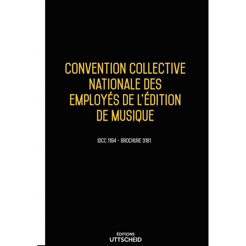 Convention collective nationale des employés de l'édition de musique décembre 2017 + Grille de Salaire
