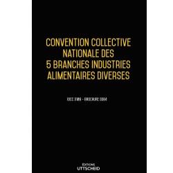 Convention collective nationale des 5 branches industries alimentaires diverses JANV 2018