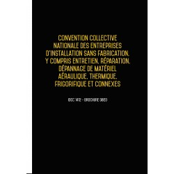 Convention collective nationale des entreprises d'installation aéraulique, thermique, frigorifique Mars 2018