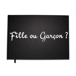 Livre d'or Baby Shower Fille ou Garçon ? - Lettres chromées - 100 pages - Qualité premium - Uttscheid
