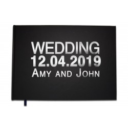 Personalized Wedding Guestbook - Chrome or gold letters -100 pages - Premium quality - Uttscheid