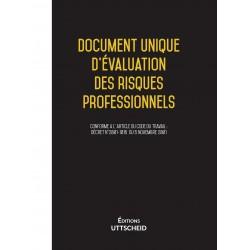 Document Unique d'évaluation des risques professionnels métier pré-rempli DUERP