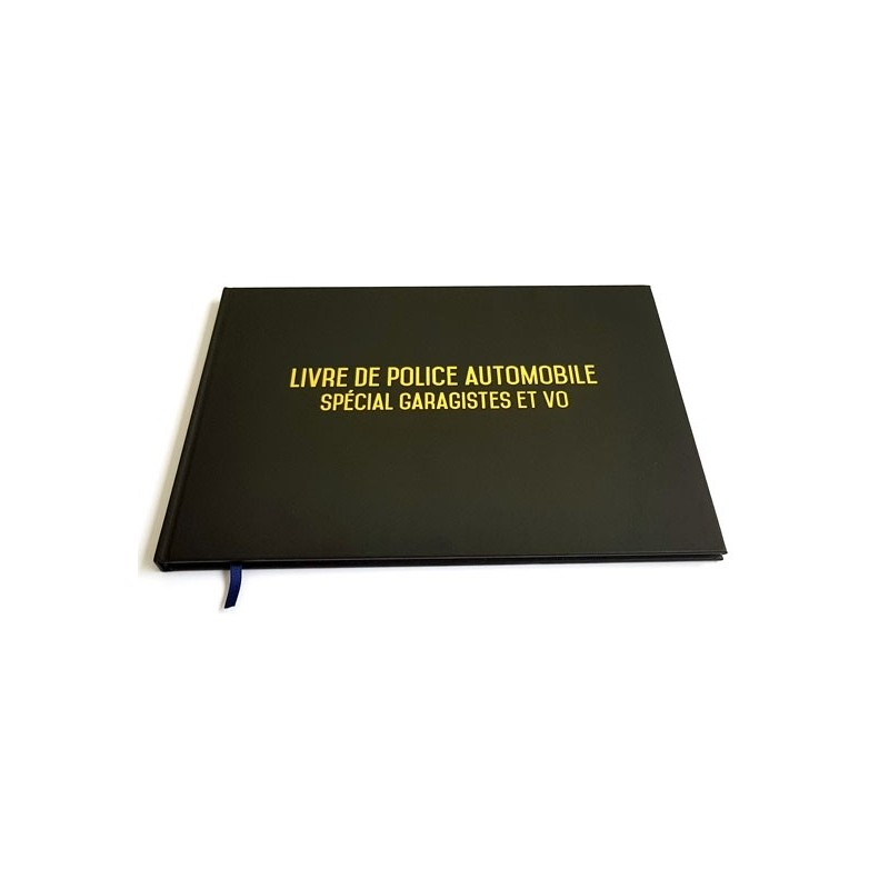 livre de police automobile registre garagistes et ventes occasions. Black Bedroom Furniture Sets. Home Design Ideas