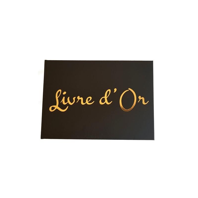 Livre D Or Format A4 Paysage Couverture Noire Mate Qualite Premium