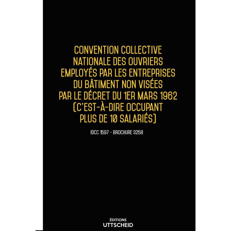 Convention collective nationale Bâtiment plus de 10 salariés 2019 + Grille de Salaire