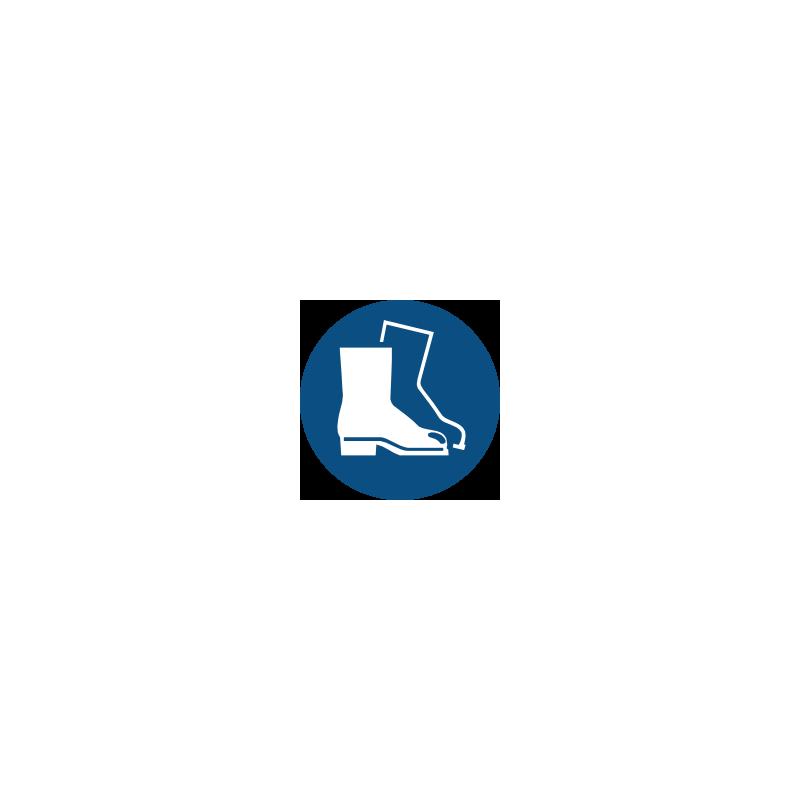 Panneaux de signalisation obligation. Chaussures de sécurité obligatoire