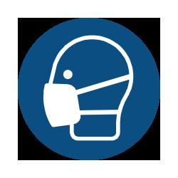 Panneaux de signalisation obligation. Panneau masque obligatoire