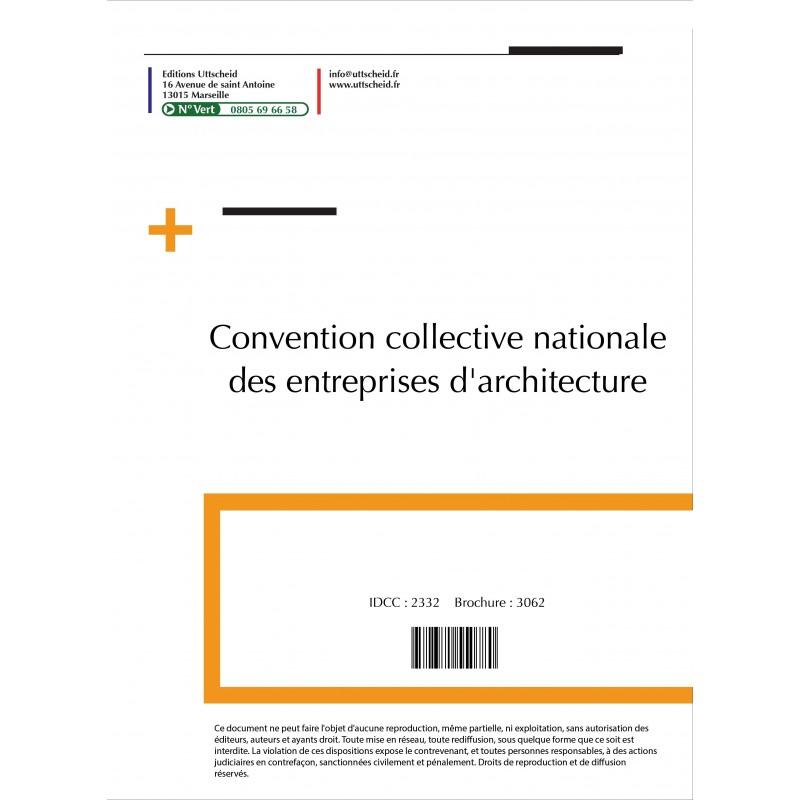 Convention collective nationale Architecte 2015 + Grille de Salaire