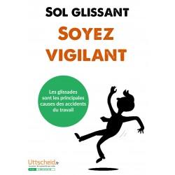 Affichage prévention - Sol glissant