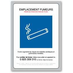 Panneau emplacement fumeur