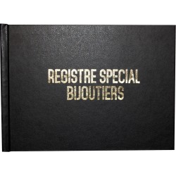 Registre spécial bijoutiers - Livre de police -