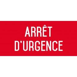 Arrêt d'urgence - L.200 x H.100 mm
