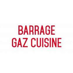 Barrage gaz cuisine - L.200 x H.100 mm