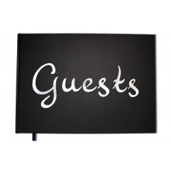 Guests noir - Format A4 paysage - Couverture mate -100 pages - Qualité premium