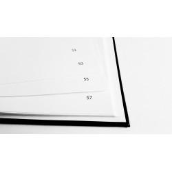 Livre d'or blanc - Format A4 paysage - Couverture mate - 100 pages - Qualité premium