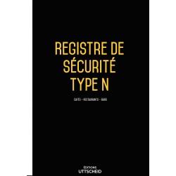 Registre de sécurité incendie ERP de type N (cafés-restaurants-bars)