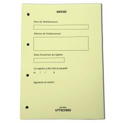 Recharge Livre Inventaire - 100 feuillets foliotés