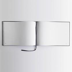 Livre d'or noir - Format A4 paysage - Couverture mate -100 pages - Qualité premium