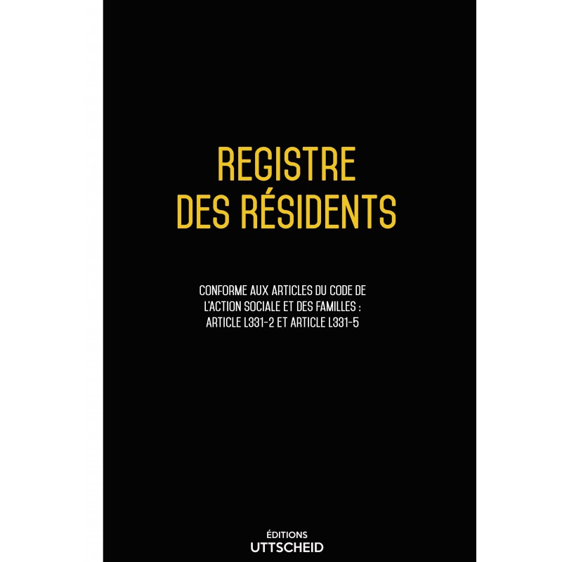 Registre des résidants