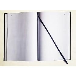 Registre folioté numéroté Vertical 32 x 25 cm - 100 pages - Couverture noire - Quadrillage - Petits carreaux - Qualité Premium