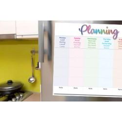 Planning hebdomadaire - Plastifié et Magnétique. Feutre à pointe fine eteffaçable fourni.- format A3