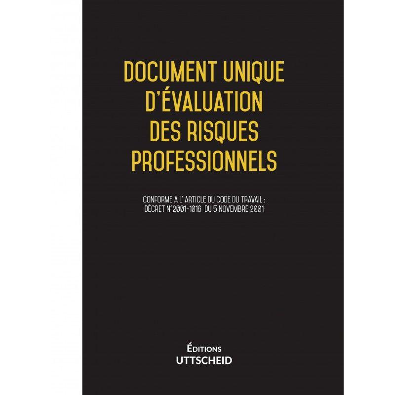 Document unique d'évaluation des risques professionnels métier : Commercial