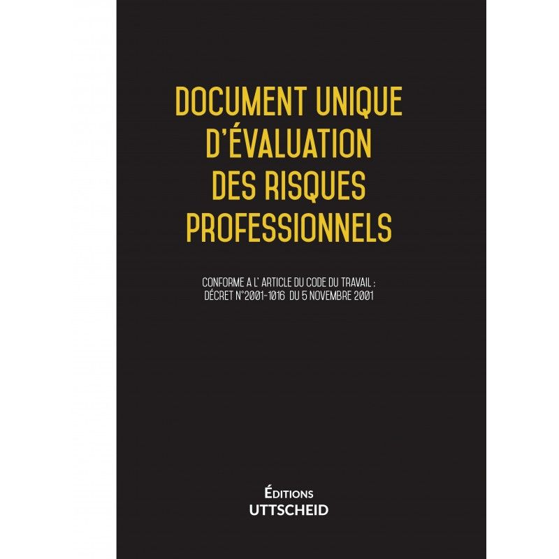 Document unique d'évaluation des risques professionnels métier : Pressing - Version 2017