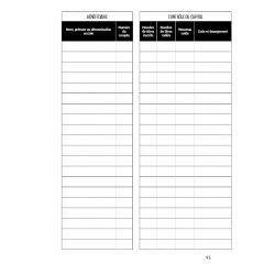 Recharge Classeur Mouvements des Titres - 50 feuillets foliotés